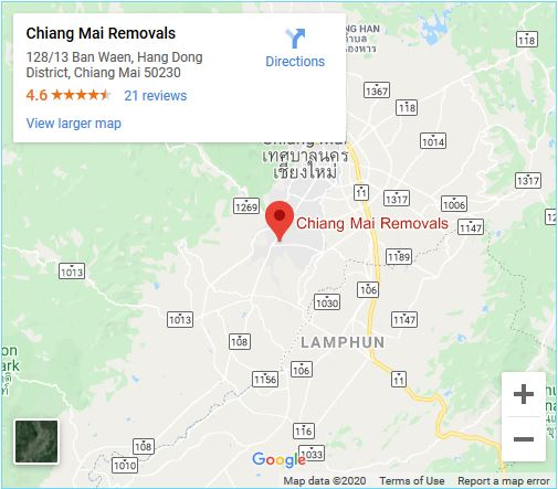 chinag mai removals map